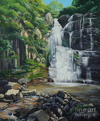 Rainforest Drawing - Minnamurra Falls by Merrin Jeff