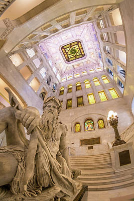 Mead Photograph - Minneapolis City Hall Rotunda, Father Of Waters by Jim Hughes
