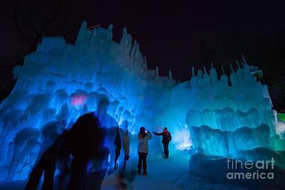Winter Fun Photograph - Eden Prairie Ice Castles by Wayne Moran