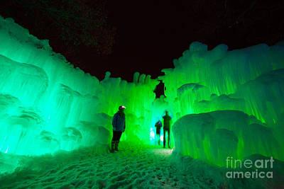 Winter Fun Photograph - Ice Castles Of Minnesota by Wayne Moran