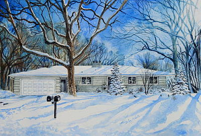 Architectural Artist Painting - Minneapolis Mn Home Portrait by Hanne Lore Koehler