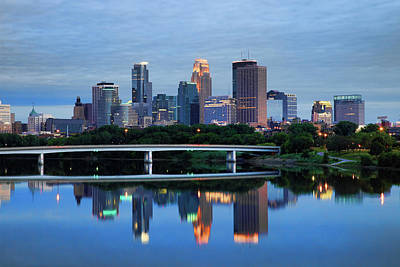Built Structure Photograph - Minneapolis Reflections by Rick Berk