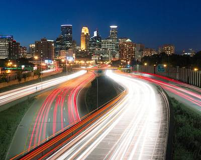 Minneapolis Traffic Flow Print by Jim Hughes