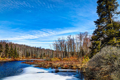 Winter Scenes Photograph - Minnehaha Creek In Late Winter by David Patterson