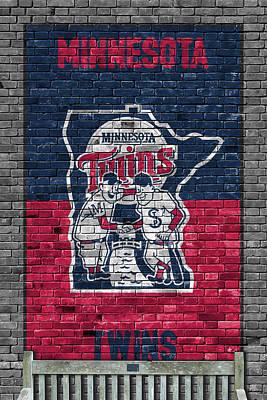 Minnesota Twins Brick Wall Print by Joe Hamilton