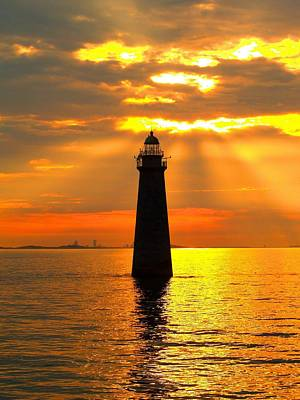Ledge Photograph - Minot's Ledge Lighthouse by Joseph Gillette