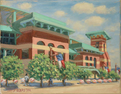 Houston Astros Painting - Minute Maid Park July Afternoon by Texas Tim Webb