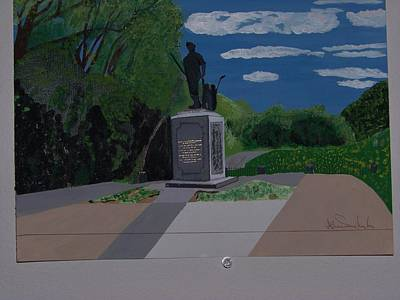 Minuteman Memorial Print by William Demboski