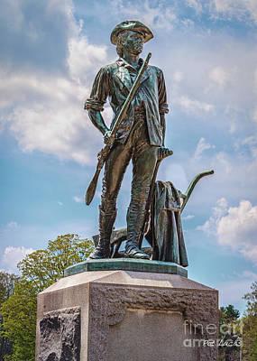 Minuteman Statue Print by Pat Lucas
