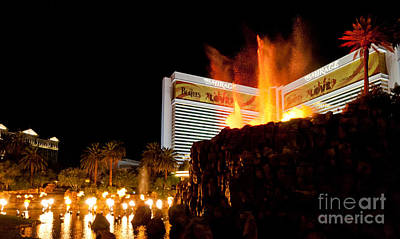 Fire Photograph - Mirage Volcano by Andy Smy