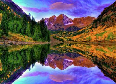 San Juan Mountain Range Photograph - Mirror Of Fall by Midori Chan