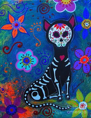 Oaxacan Painting - Mi Gato Favorito by Pristine Cartera Turkus