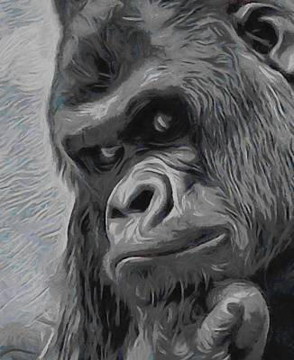 Gorilla Digital Art - Mischievous Thoughts  by Ernie Echols