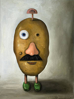 Potato Painting - Misfit Potato Head 2 by Leah Saulnier The Painting Maniac