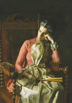 Miss Amelia Van Buren Print by Thomas Eakins