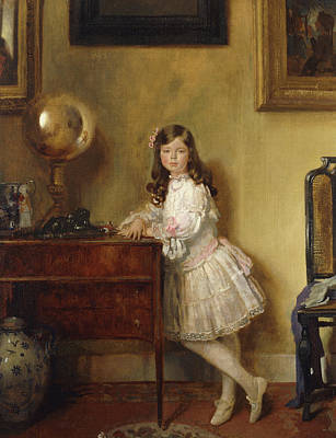 Orb Painting - Miss Annie Harmsworth In An Interior by Sir William Orpen