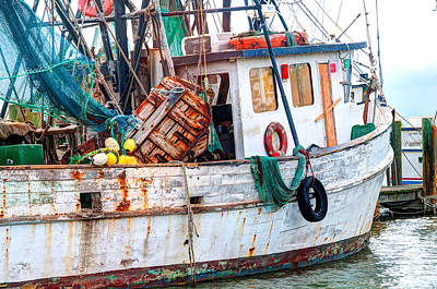 Net Photograph - Miss Hale Shrimp Boat - Side by Scott Hansen
