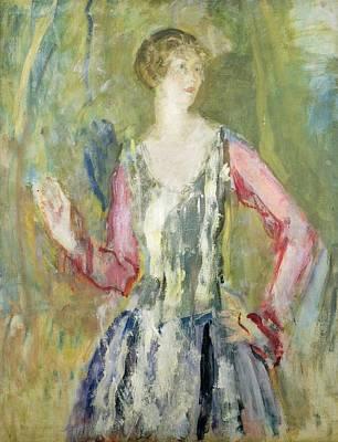 20th Century Painting - Miss Nancy Cunard by Ambrose McEvoy