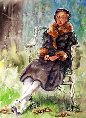 Olivia Painting - Miss Olivia by Shirley Sykes Bracken