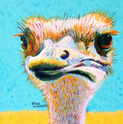 Miss Personality - Ostrich Original by Deb  Harclerode