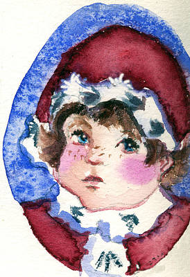 Miss Sugar Plum Print by Mindy Newman