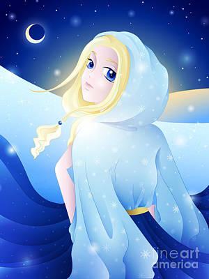 Comic Drawing - Miss Winter-night by Sandra Hoefer