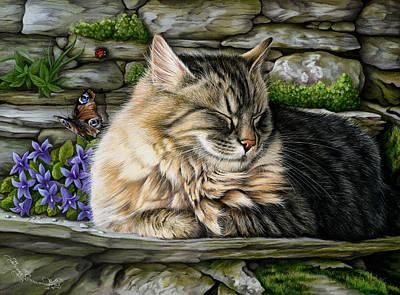 Tabby Cat Photograph - Missed Buteerfly by Irina Garmashova-Cawton