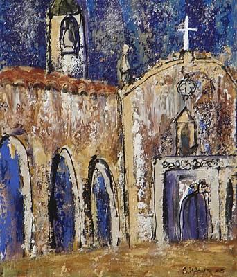 Mission Espiritu Santo Original by Suzanne Kfoury