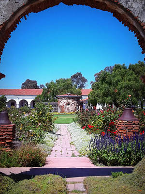 Luis Photograph - Mission Garden- San Luis Rey Ca by Glenn McCarthy Art and Photography