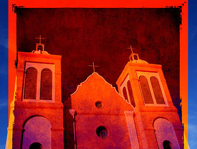 Mission In New Mexico Print by Susanne Van Hulst