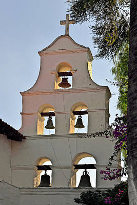 Mission San Diego De Alcala Bell Tower Print by Christine Till