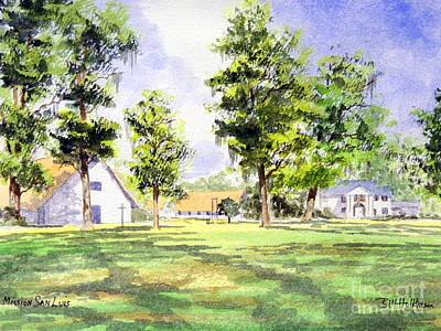 Tallahassee Painting - Mission San Luis by Bill Holkham