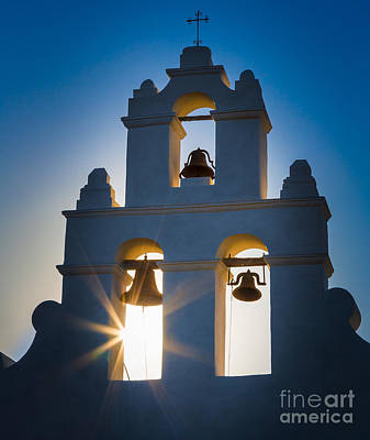 United States Mission Church Photograph - Mission Sunset by Inge Johnsson