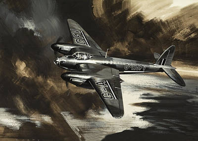 Raf Painting - Mission To Danger by Wilf Hardy