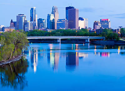 Mississippi And Minneapolis Print by Adam Pender