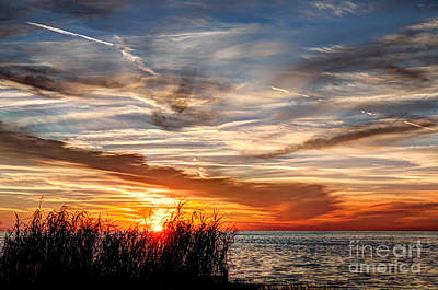 Mississippi Gulf Coast Sunset Print by Joan McCool