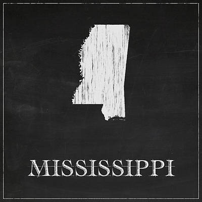 Mississippi State Map Digital Art - Mississippi Map by Finlay McNevin