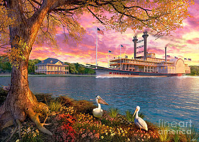 Photograph - Mississippi Queen by Dominic Davison