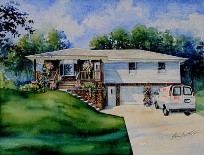 House Portrait Painting - Missouri Home Portrait by Hanne Lore Koehler