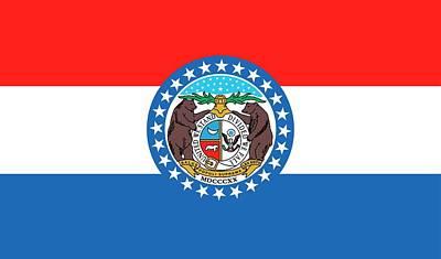 Pride Painting - Missouri State Flag by American School