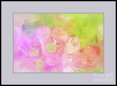 Missouri Wildflowers 5  - Polemonium Reptans -  Digital Paint 8 Print by Debbie Portwood