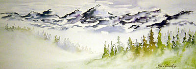 Mist In The Mountains Print by Joanne Smoley