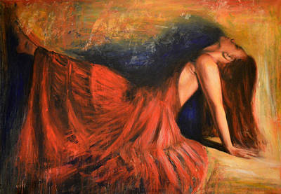 Nudes Painting - Mistero by Escha Van den bogerd