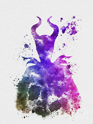 Maleficent Mixed Media - Mistress Of All Evil by Rebecca Jenkins