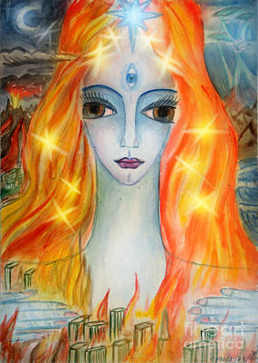 Catastrophe Painting - Mistress Of Wild Fire by Sofia Goldberg