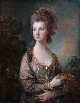 Royal Painting - Mrs Thomas Graham by Thomas Gainsborough