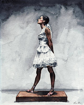Misty Copeland Ballerina As The Little Dancer Print by Laura Row
