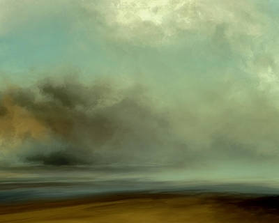 Deep Blue Mixed Media - Misty Cove by Lonnie Christopher
