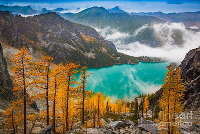 Misty Enchantments Print by Inge Johnsson