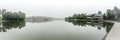 Mist Photograph - Misty Hoyt Lake Morning by Chris Bordeleau